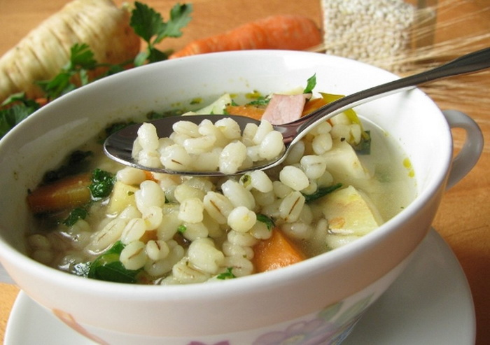 Суп с перловкой, рецепт